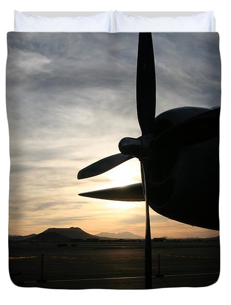 Duvet Cover featuring the photograph Fi-fi Power by David S Reynolds