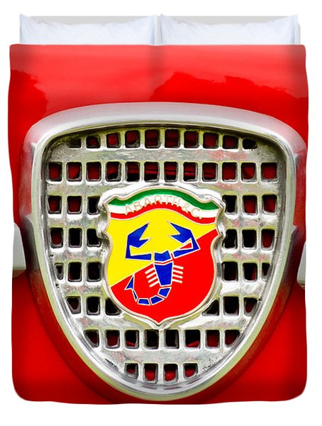 Fiat Emblem Duvet Cover by Jill Reger