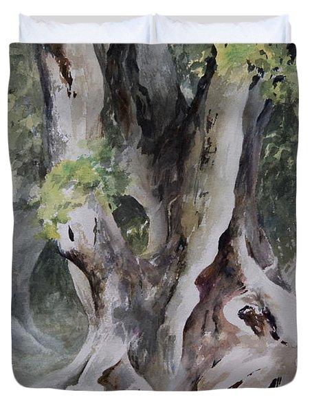 Ficus Aurea Duvet Cover by Rachel Christine Nowicki