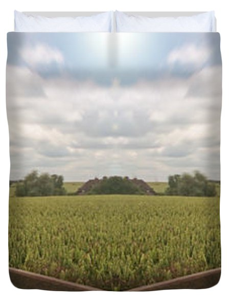 Field And Sky, South England Duvet Cover by Vast Photography