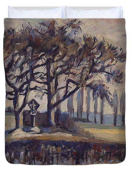 Field Cross At Eyserhalte Duvet Cover