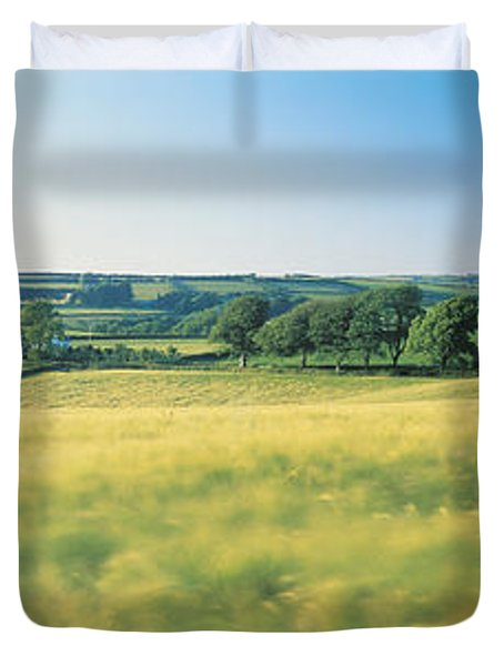 Field Near Barnstaple, North Devon Duvet Cover