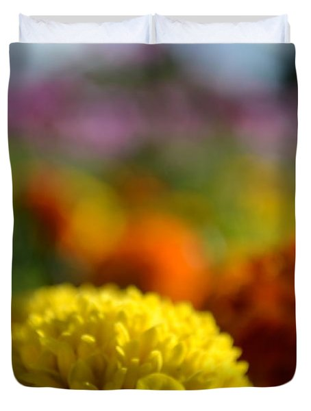 Duvet Cover featuring the photograph Field Of Carnations by Scott Lyons