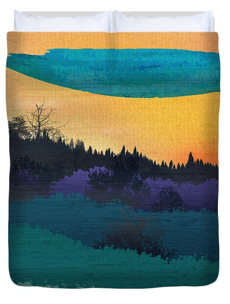 Field Of Colors And Shades Duvet Cover by Bedros Awak