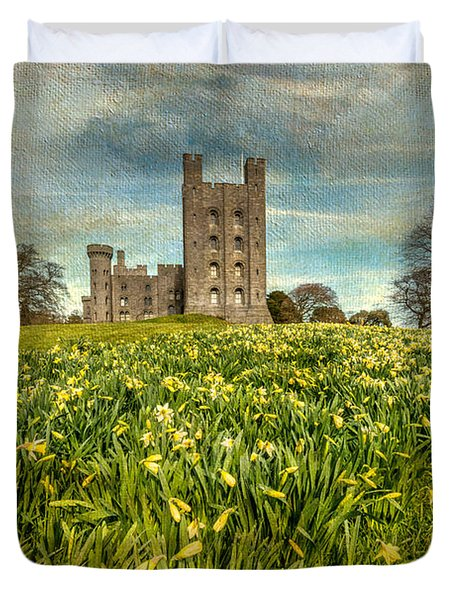 Field Of Daffodils Duvet Cover by Adrian Evans