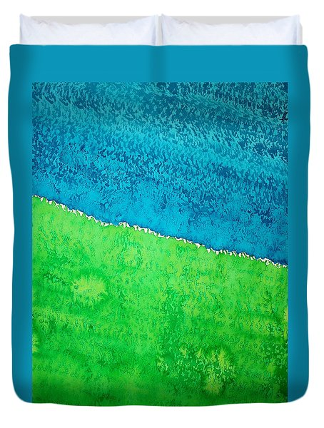 Field Of Dreams Original Painting Duvet Cover by Sol Luckman