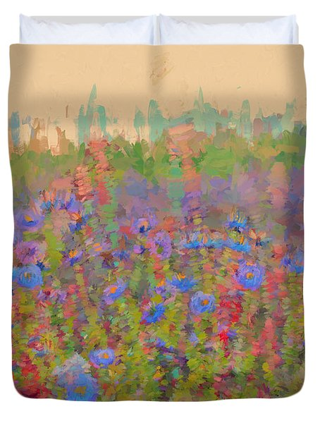 Field Of Flowers Duvet Cover by Cathy Anderson