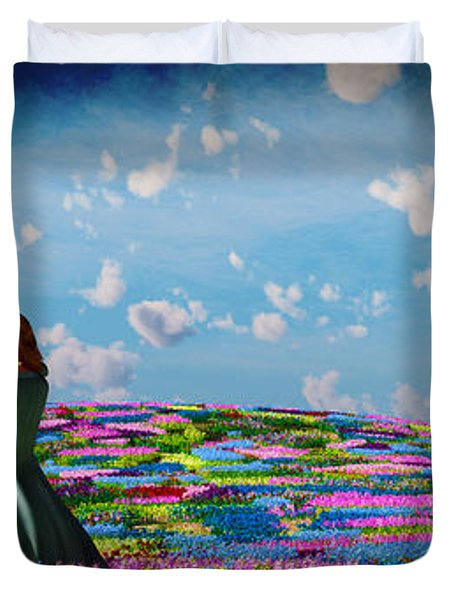 Field Of Flowers... Duvet Cover by Tim Fillingim
