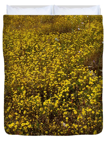 Field Of Goldfields In Park Sierra-ca Duvet Cover by Ruth Hager