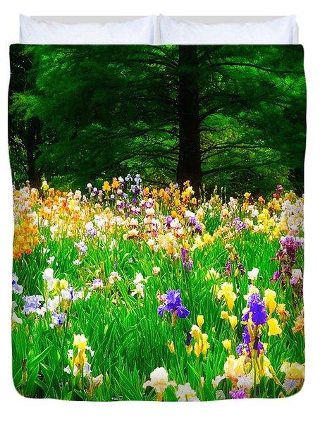 Field Of Iris Duvet Cover