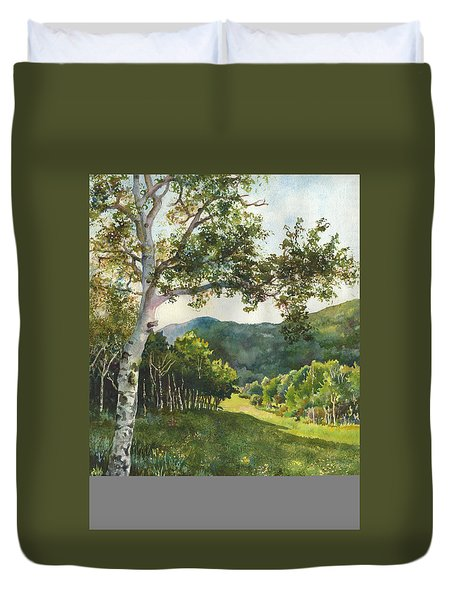 Field Of Light At Caribou Ranch Duvet Cover