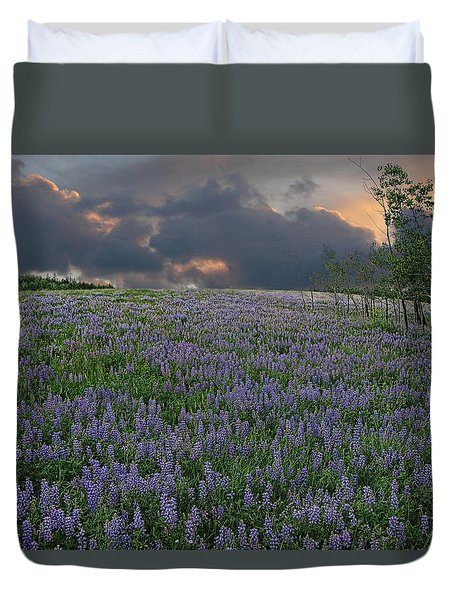 Field Of Lupine Duvet Cover