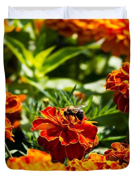 Field Of Marigolds Duvet Cover