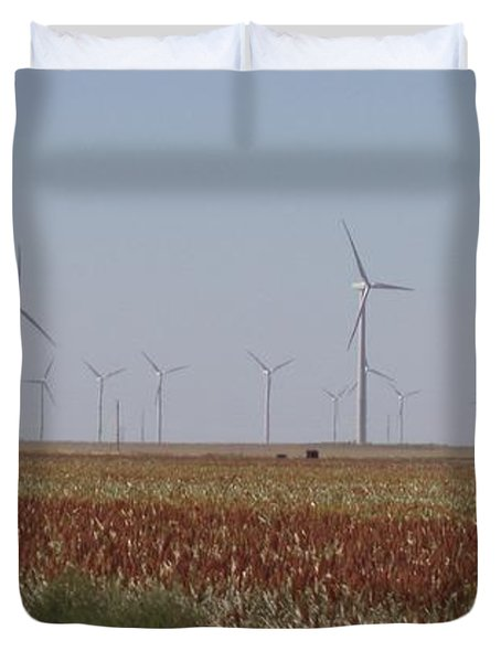 Duvet Cover featuring the photograph Field Of Wind by Fortunate Findings Shirley Dickerson