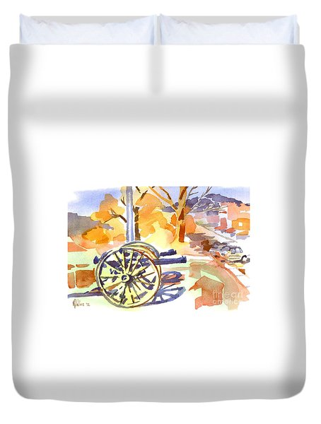 Field Rifles In Watercolor Duvet Cover by Kip DeVore