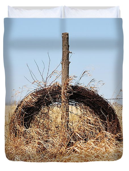 fields That Feed Duvet Cover by Jerry Cordeiro