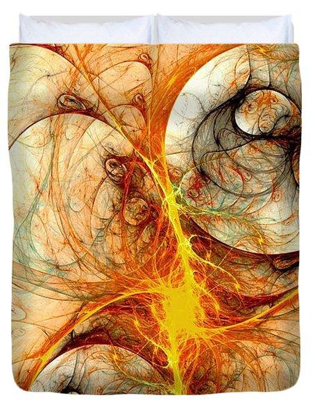 Fiery Birth Duvet Cover by Anastasiya Malakhova