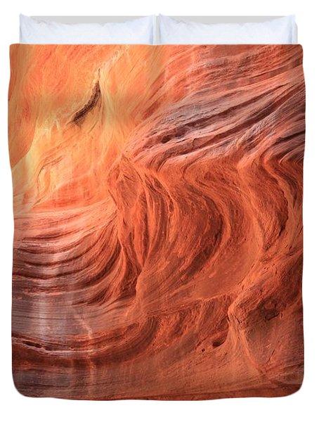 Fiery Buckskin Walls Duvet Cover
