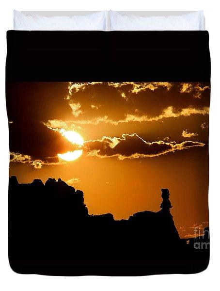 Fiery Desert Sky Duvet Cover