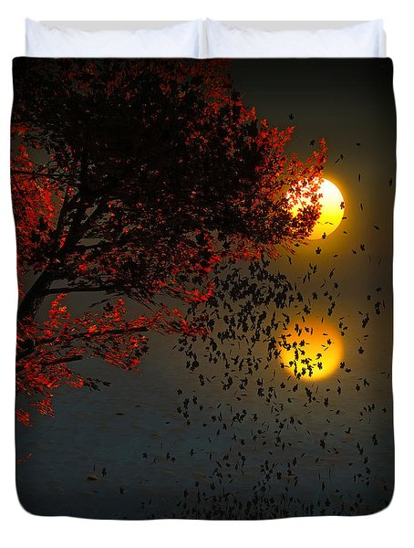 Fiery Fall... Duvet Cover by Tim Fillingim