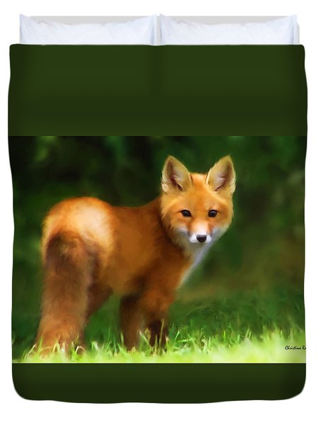 Fiery Fox Duvet Cover
