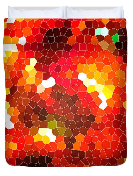 Fiery Red Stained Glass Duvet Cover by Gaspar Avila