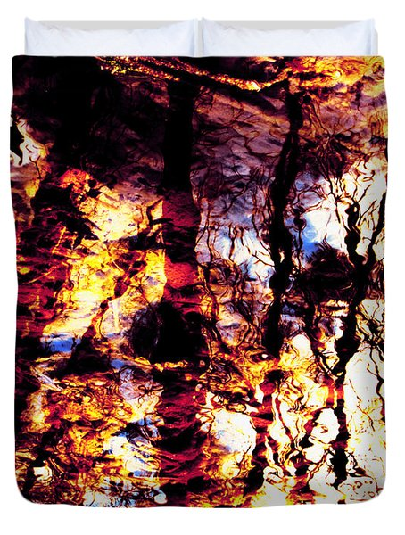 Fiery Reflections Duvet Cover by Shawna Rowe