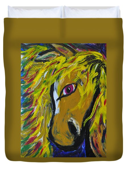 Fiery Steed Duvet Cover by JAMART Photography