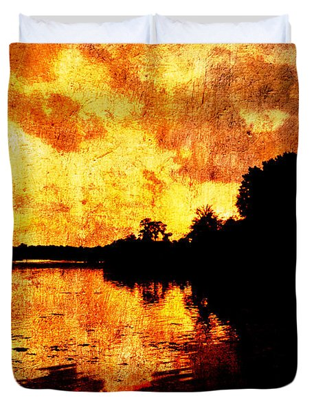 Fiery Sunset Duvet Cover by Randi Kuhne