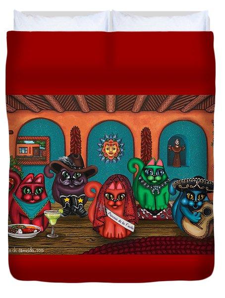 Fiesta Cats II Duvet Cover