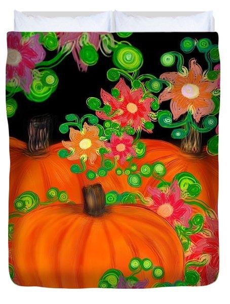Fiesta Pumpkins Duvet Cover