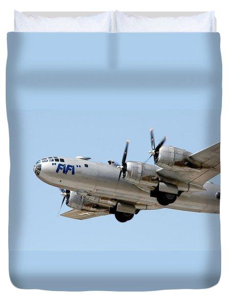 Fifi In Flight Duvet Cover