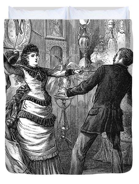 Fight, 19th Century Duvet Cover