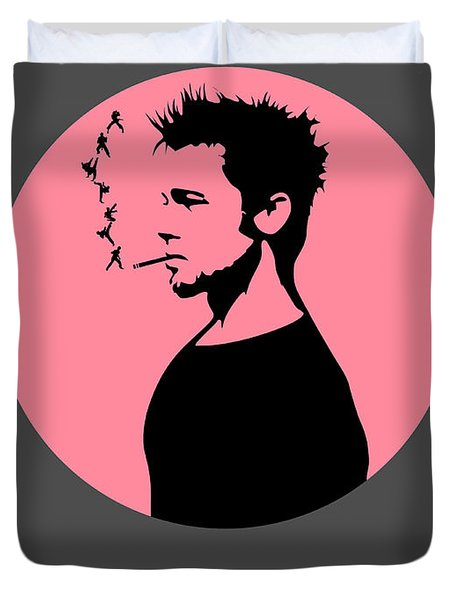 Fight Club Poster 1 Duvet Cover by Naxart Studio