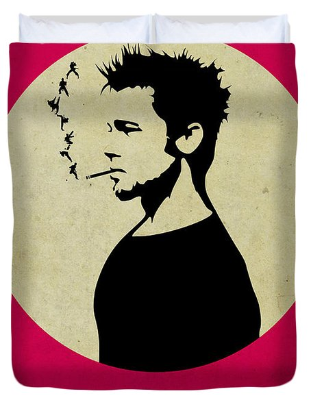 Fight Club Poster Duvet Cover by Naxart Studio