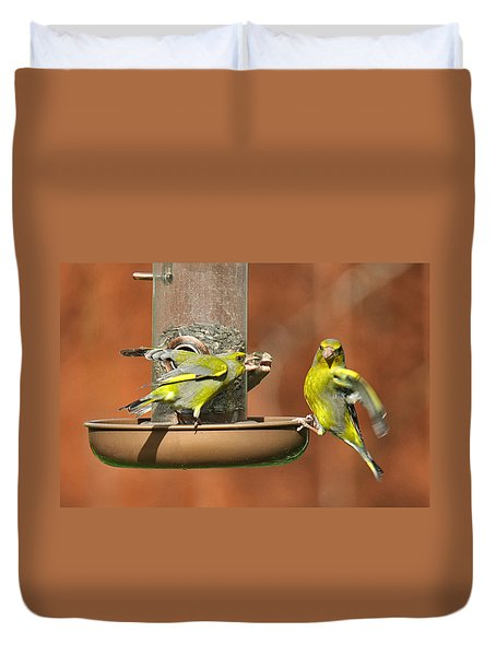 Fight For Food Duvet Cover