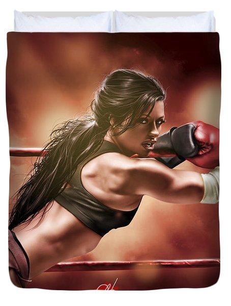 Fight Night Duvet Cover