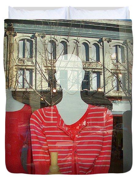 Figure In Window By Jan Marvin Duvet Cover