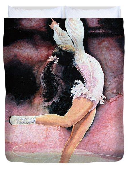Figure Skater 20 Duvet Cover by Hanne Lore Koehler