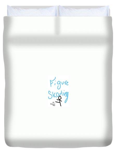 Figure Skating Duvet Cover