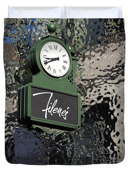 Filene's Boston In Abstract Duvet Cover by Caroline Stella