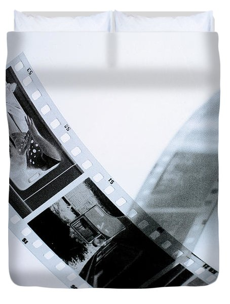 Film Strips Duvet Cover