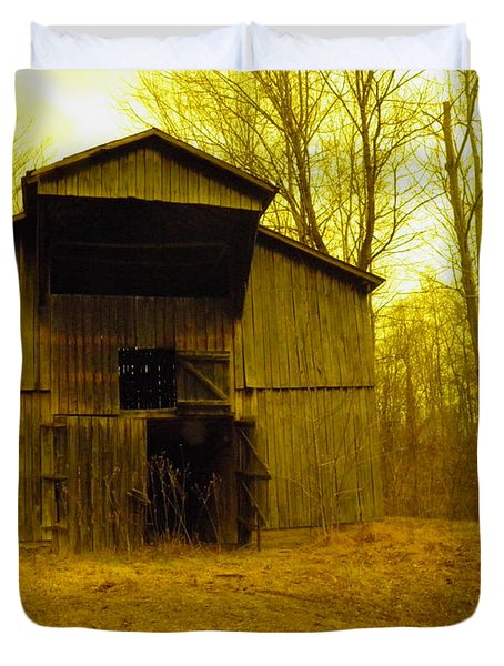 Duvet Cover featuring the photograph Filtered Barn by Nick Kirby