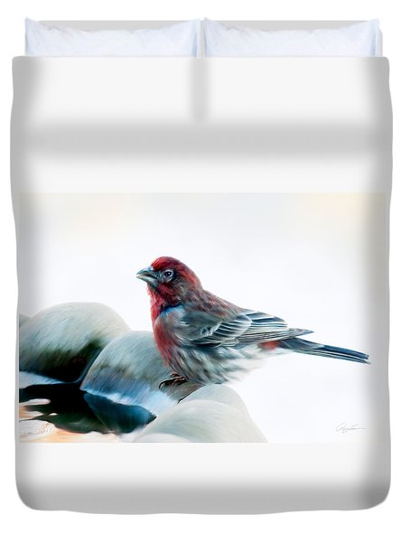 Finch Duvet Cover by Ann Lauwers