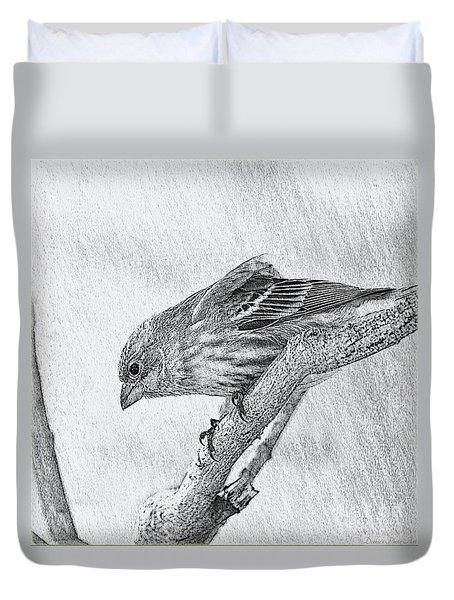 Finch Digital Sketch Duvet Cover
