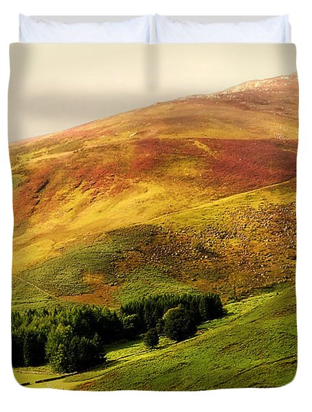 Find The Soul. Golden Hills Of Wicklow. Ireland Duvet Cover by Jenny Rainbow