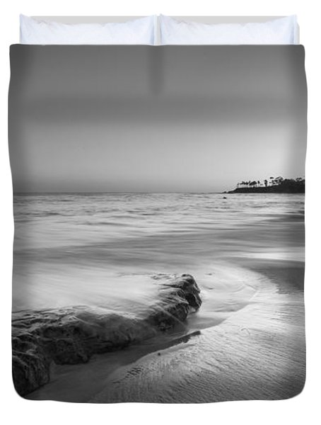 Finding Serenity Bw Duvet Cover by Michael Ver Sprill