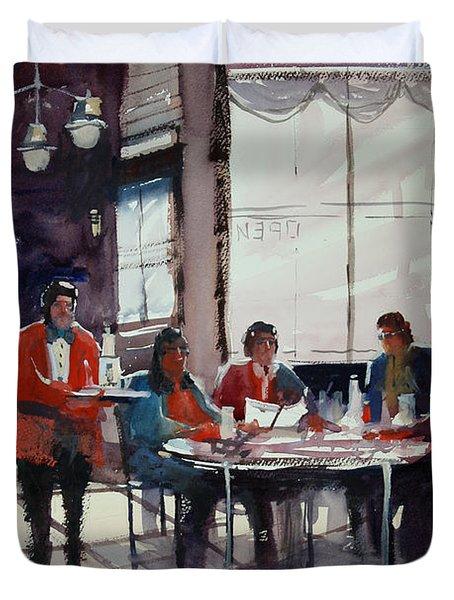 Fine Dining Duvet Cover by Ryan Radke