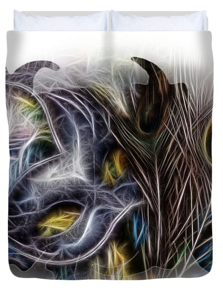 Fine Feathered Fantasy Duvet Cover by Cindy Nunn