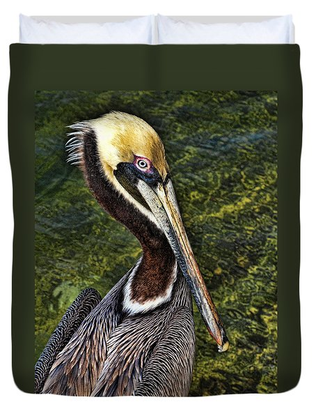 Pelican Close Up Duvet Cover